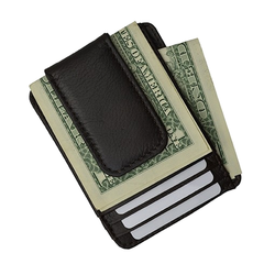 Luxuries Genuine Leather Magnetic Money Clip Wallet - BoardwalkBuy - 1