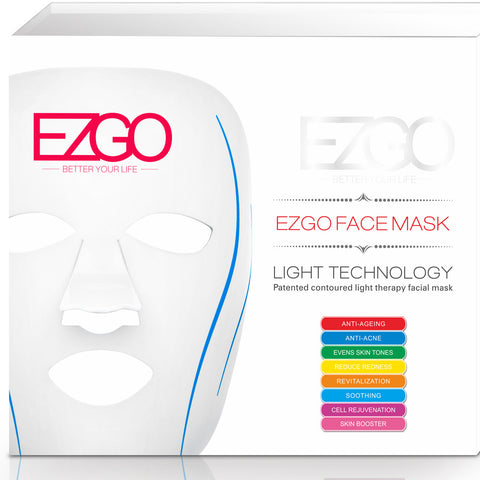 EZGO 7+1 Colors LED Face Mask