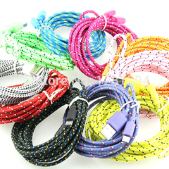 2 Pack: 10 Feet Fiber Cloth Cable for iPhone 5 & 6 - Assorted Colors - BoardwalkBuy - 3