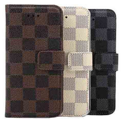 iPhone 6 plus 5.5 inch Leather Plaid Case - BoardwalkBuy - 1
