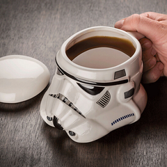 3D Star Wars Ceramic Mug With Removeable Lid - Darth Vader or Stormtrooper Styles Available - BoardwalkBuy - 2