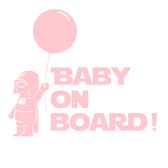 Baby On Board Star Wars Car Vinyl Sticker - Assorted Colors and Sizes - BoardwalkBuy - 2