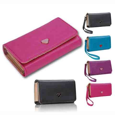 WM PU Leather Wallet Purse Phone Case