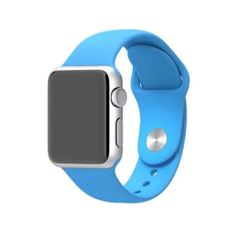 Silicone Strap Band for Apple Watch Blue - BoardwalkBuy