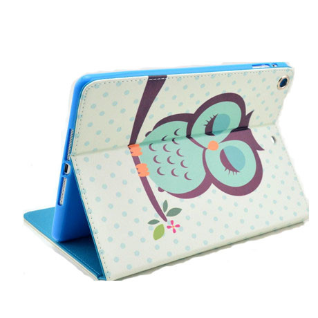 Sleeping Owl Leather Stand Case For Ipad Air