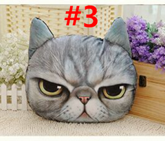 Soft Plush Cute Cat Face Throw Pillow Cushion