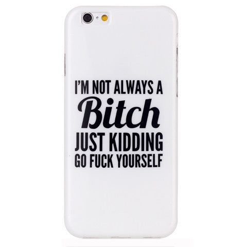 Bitch letter hard case for iphone 6 plus 5.5 inch - BoardwalkBuy - 1