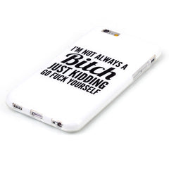 Bitch letter hard case for iphone 6 plus 5.5 inch - BoardwalkBuy - 3