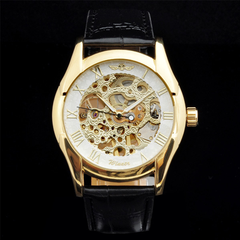 Winner Luxury Mechanical Skeleton Watch With Leather Band - Assorted Colors - BoardwalkBuy - 8