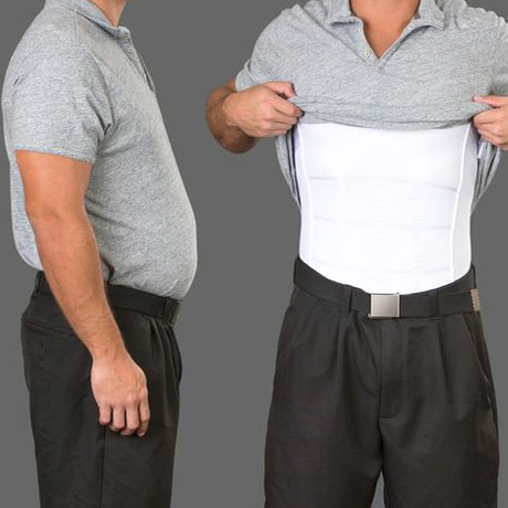 Mature mens shaping under shirts