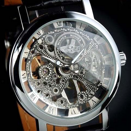 Winner Hand-Winding Skeleton Mechanical Watch - BoardwalkBuy - 1
