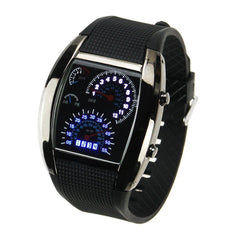 LED Digital Watch Men's Race Car Military Style - BoardwalkBuy - 1