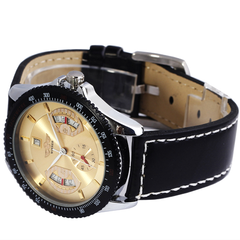Winner Sport Mechanical Watch With Leather Band - Assorted Colors - BoardwalkBuy - 2