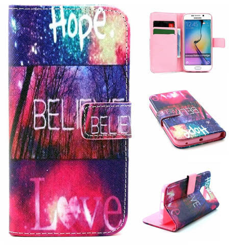 Hope Love Wallet Standard Case For Samsung Galaxy S6 Edge