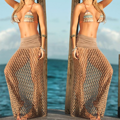 Bohemian Hollow Out Mesh Maxi Skirt - BoardwalkBuy - 2