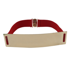 Metallic Wide Mirror Elastic Waist Belt - Assorted Colors - BoardwalkBuy - 6