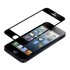 iPhone 5 Premium Shock Proof Tempered Glass Screen Protector Cover black - BoardwalkBuy - 1