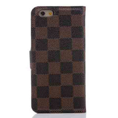 PU Leather Plaid Wallet Case For iPhone 6 - BoardwalkBuy - 5