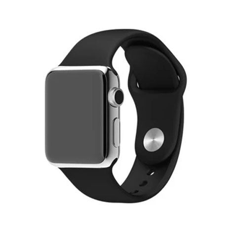 Silicone Strap Band for Apple Watch Black - BoardwalkBuy
