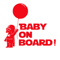Baby On Board Star Wars Car Vinyl Sticker - Assorted Colors and Sizes - BoardwalkBuy - 3