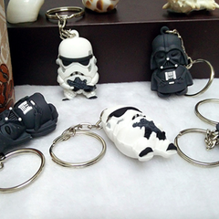 Mini Star Wars Action Figure Keychain - Darth Vader or Stormtrooper - BoardwalkBuy - 3