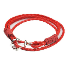 40cm PU Leather Men Anchor Bracelet - BoardwalkBuy - 3
