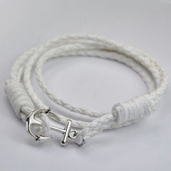40cm PU Leather Men Anchor Bracelet - BoardwalkBuy - 4