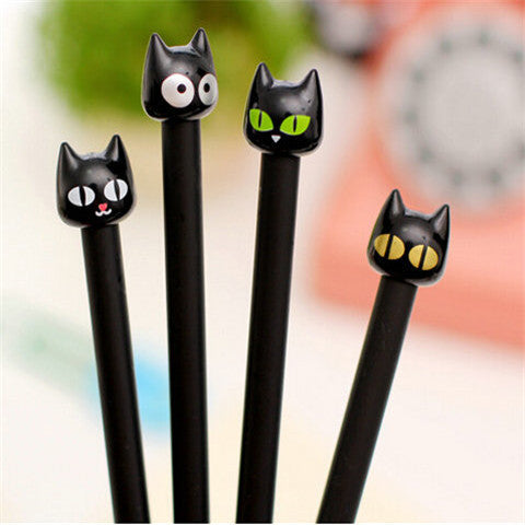 Cute Black Cat Gel Pen Stationery