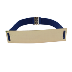 Metallic Wide Mirror Elastic Waist Belt - Assorted Colors - BoardwalkBuy - 5