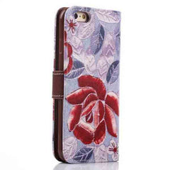 iPhone 6 Wallet Flowers Gyrosigma Case - BoardwalkBuy - 17