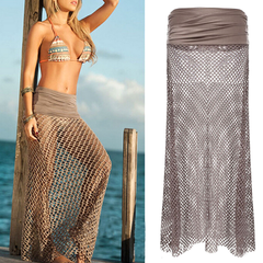 Bohemian Hollow Out Mesh Maxi Skirt - BoardwalkBuy - 3