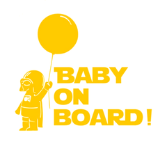 Baby On Board Star Wars Car Vinyl Sticker - Assorted Colors and Sizes - BoardwalkBuy - 4