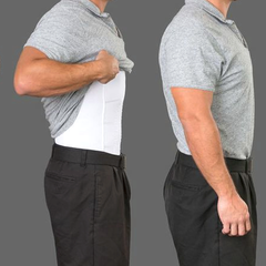 Men's Body Slimming Under-Shirt - BoardwalkBuy - 3