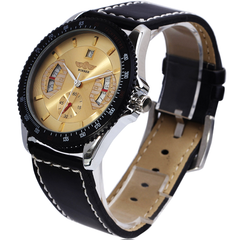 Winner Sport Mechanical Watch With Leather Band - Assorted Colors - BoardwalkBuy - 3