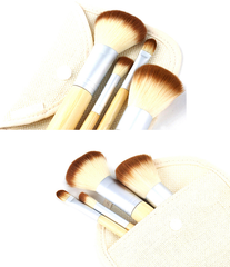 Mini 4 Piece Bamboo Brush Set - BoardwalkBuy - 2