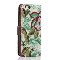 iPhone 6 Wallet Flowers Gyrosigma Case - BoardwalkBuy - 24