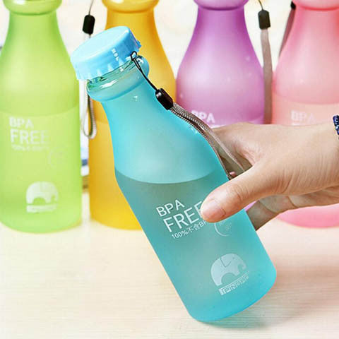 Frosted Leak-proof Plastic Water Bottle - BoardwalkBuy - 1