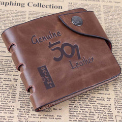 501 Leather folding Men Wallet - BoardwalkBuy - 1