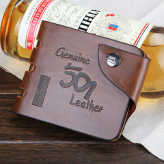 501 Leather folding Men Wallet - BoardwalkBuy - 3