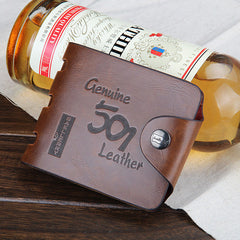 501 Leather folding Men Wallet - BoardwalkBuy - 2