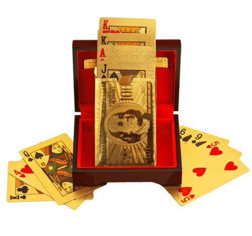 24k Gold Plated Playing Cards With Optional Case