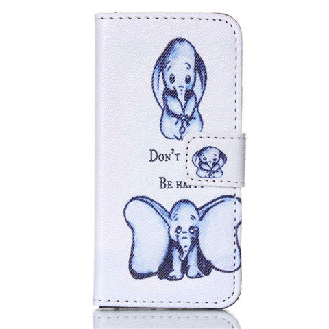 Elephant Stand Leather Case For Iphone 5S