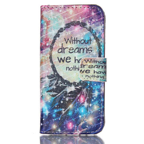 Dream Stand Leather Case For Iphone 5S