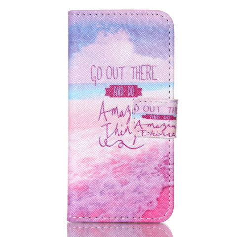 Pink Stand Leather Case For iPhone 5s - BoardwalkBuy - 1