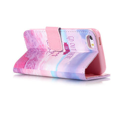 Pink Stand Leather Case For iPhone 5s - BoardwalkBuy - 3