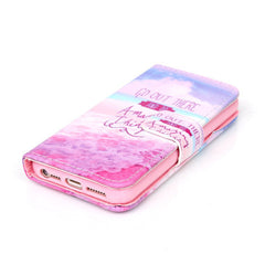 Pink Stand Leather Case For iPhone 5s - BoardwalkBuy - 2