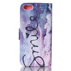 Purple Smile Stand Leather Case For iPhone 5s - BoardwalkBuy - 4