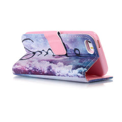 Purple Smile Stand Leather Case For iPhone 5s - BoardwalkBuy - 3