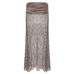 Bohemian Hollow Out Mesh Maxi Skirt - BoardwalkBuy - 4