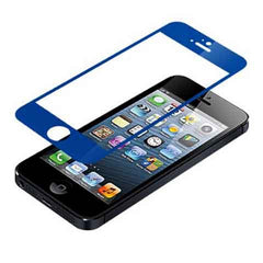 iPhone 5 Premium Shock Proof Tempered Glass Screen Protector Cover blue - BoardwalkBuy - 1